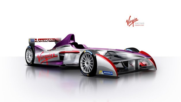 Virgin Formula E racing livery first look