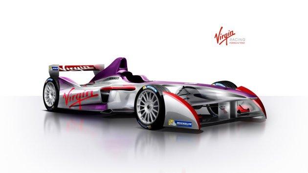 Virgin Formula E racing livery first look